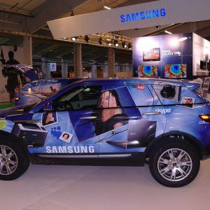 Samsung bildekoration lavet af skiltehus.dk